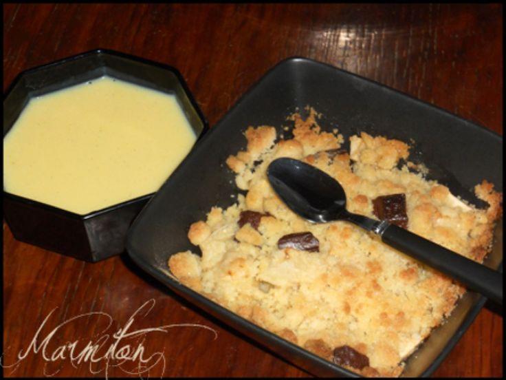 Crumble pomme chocolat : Recette de Crumble pomme chocolat - Marmiton