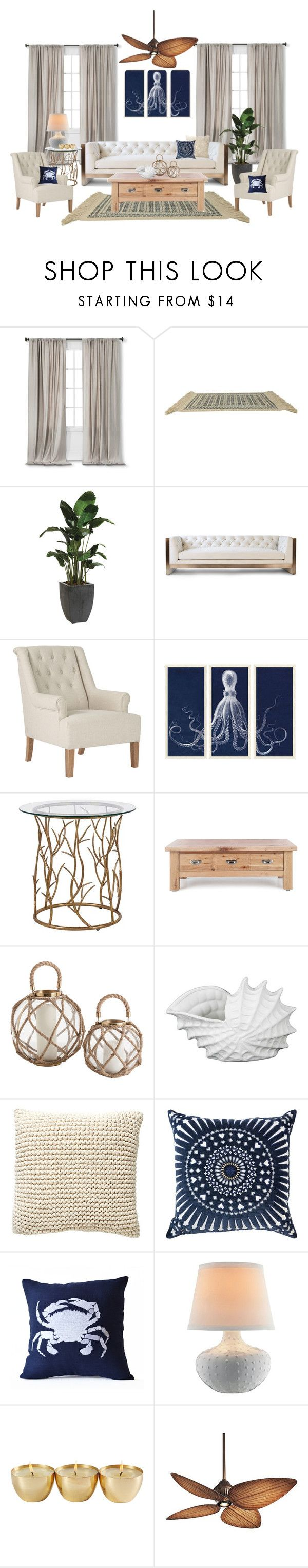 """Hamptons"" by sally-w on Polyvore featuring interior, interiors, interior design, home, home decor, interior decorating, Nate Berkus, Karastan, Ethan Allen and Vesper Dresses"