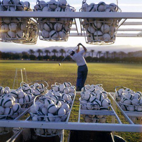 Atelier Robert Doisneau | Galeries virtuelles des photographies de Doisneau - Pays étrangers / USA ~ Balles de golf, Palm Springs 1960