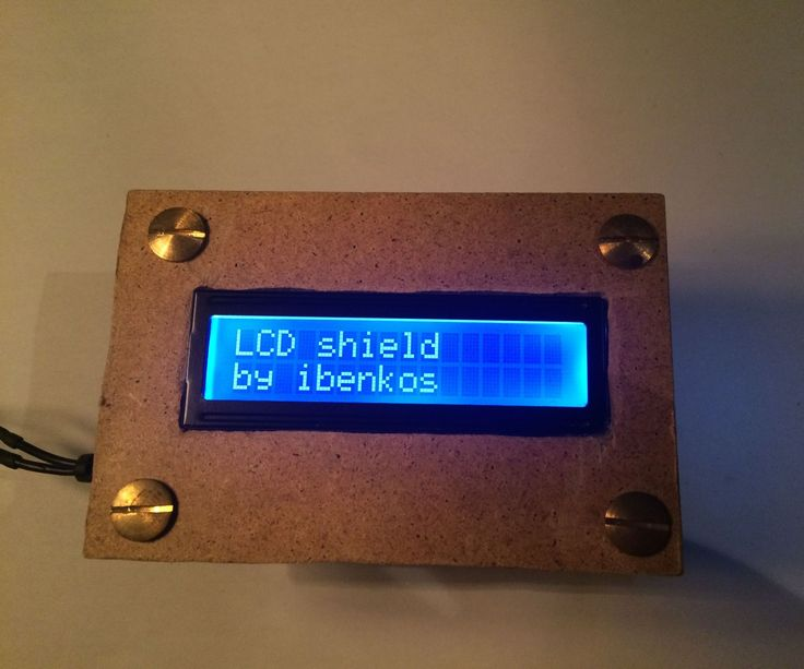 DIY wood case for Arduino LCD shield