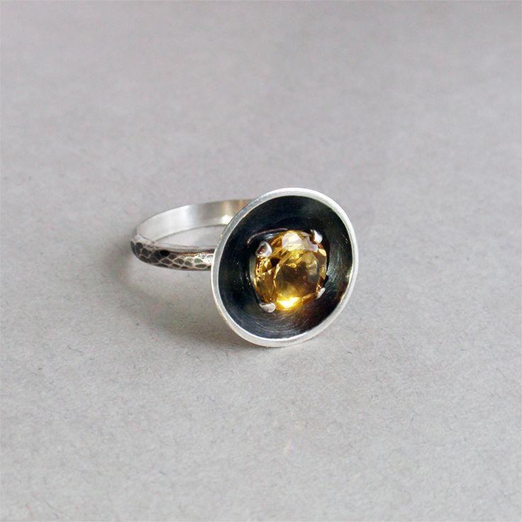 De sinne. Серебро, цитрин натуральный, кольцо с цитрином