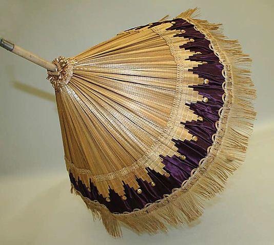 Parasol Date: 19th century Culture: American or European Medium: straw, silk