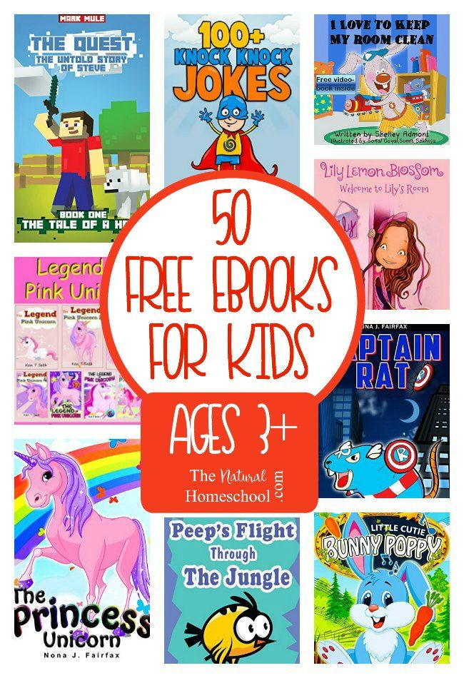 50 Free eBooks for Kids Download {Ages 3 Free kids books