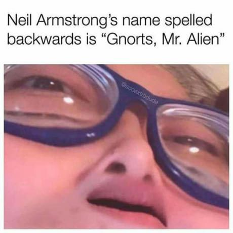 did we send neil to the moon or send him back