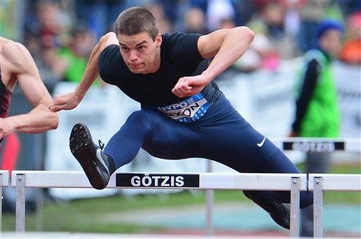 Gunnar Nixon competing in the Decathlon at Gotzis -- oh my gosh, this boy