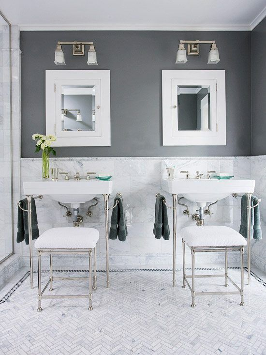 Gray Bath Color  Getting The Best Colors for Bathrooms