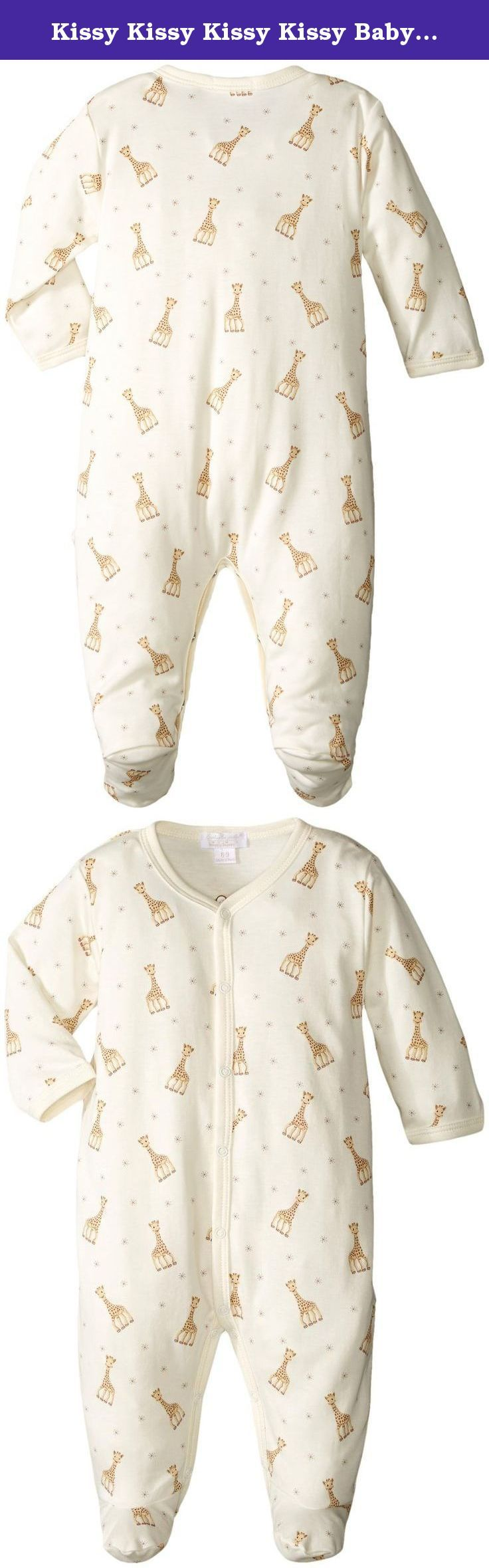 Kissy Kissy Kissy Kissy Baby Boys Sophie La Girafe Print Footie, Beige, NB. At Kissy Kissy we pride ourselves in creating quality products with infinite attention to detail, resulting in Earnie Awards for Design Excellence. Known for our trademark softness, we use only the highest quality Peruvian Pima cotton so that the most luxurious and gentlest fabric touches a baby's skin.