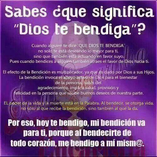 BENDIT@ ERES.   Dios te bendiga! !Amén