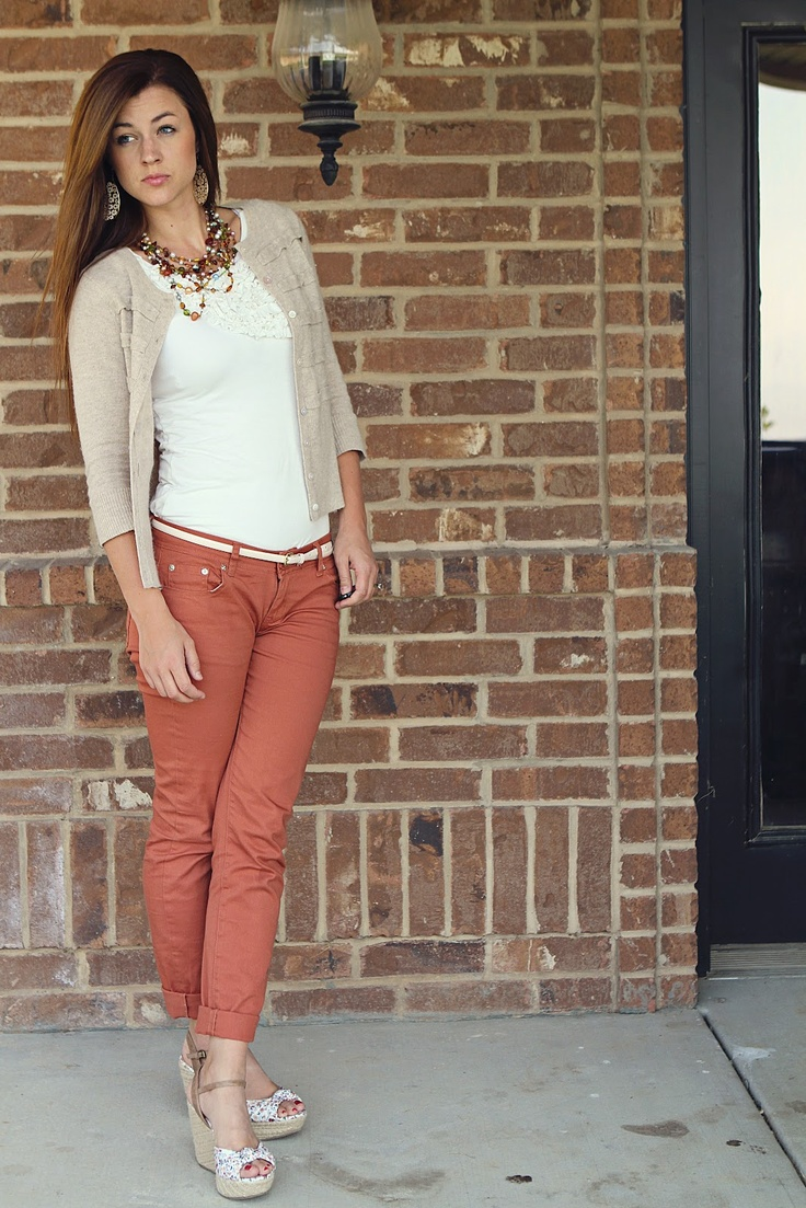 color jeans////outfit!