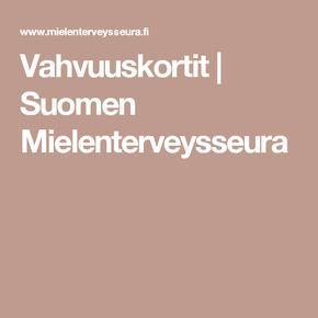 Vahvuuskortit | Suomen Mielenterveysseura