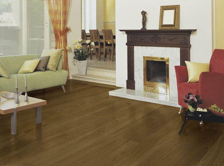 Polarwood parketti, Oak Brownsugar. Paksuus 14mm, soveltuu lattialämmityksen kanssa. Värisilmä, www.varisilma.fi