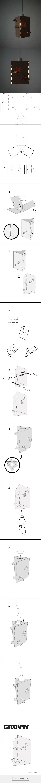 Cardboard furniture techniques how to achieve strength growing up - Cardboard Lamp Grovw By Demidova Nadya Ikea Project Curator Arseny Sergeev Hse Art Cardboard Furnitureikeaabs