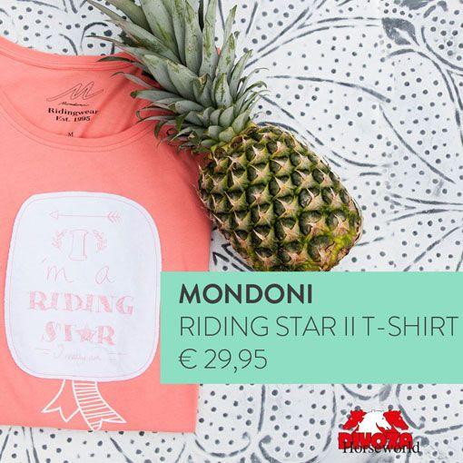 Mondoni Riding Star II T-shirt te koop bij Divoza Horseworld. #mondoni #tshirt #divozahorseworld #mode #fashion #ruitersport