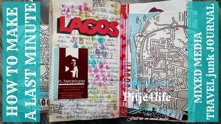 How to make a last minute Mixed Media Travel junk journal using an old book