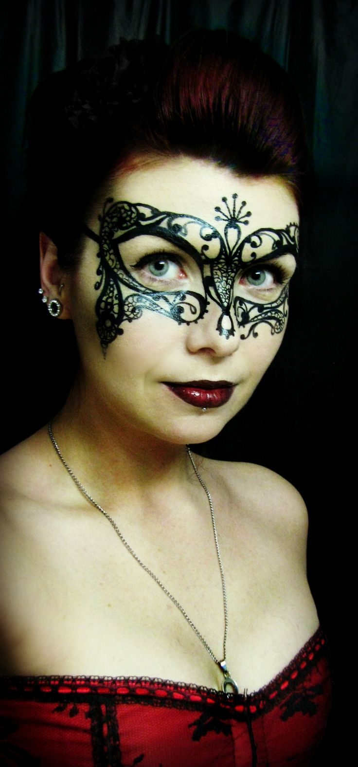 Venetian Mask Makeup - greasepaints and a fine brush