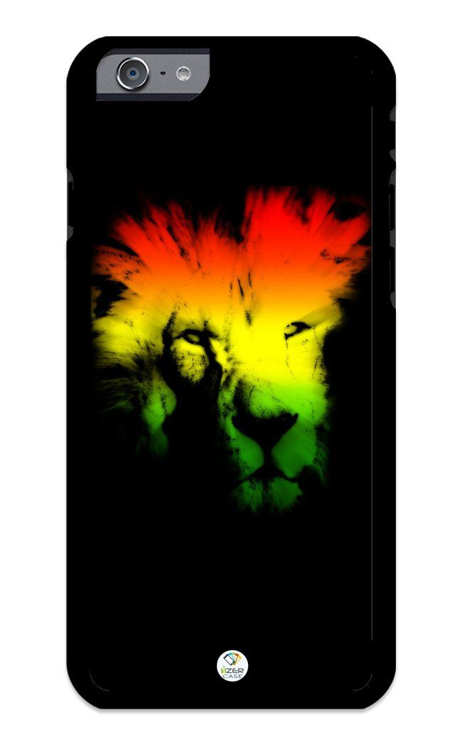 iZERCASE iPhone 6, iPhone 6S Case Rasta Lion Neon JAH Reggae Colors RUBBER CASE - Fits iPhone 6, iPhone 6S T-Mobile, Verizon, AT&T, Sprint and International. COLOR OPTIONS: Our rubber cases come in black and white options as shown in pictures above. PLEAS