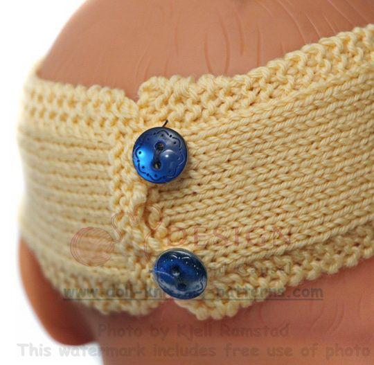 Adorable tenue d'été à tricoter pour poupée