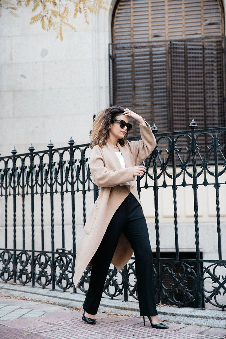 Bardot_Top-Stripes-Purificacion_Garcia_Trousers-Camel_Coat-Outfit-Street_Style-Collage_Vintage-31