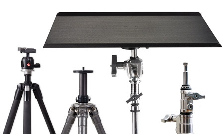 Tether Table Aero Master mounts to any of these stands, no adapters needed. http://jcopho.to/bhtethertable