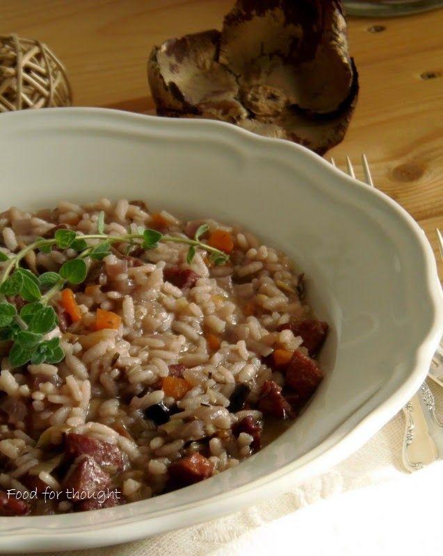 Food for thought: Ριζότο με χωριάτικο λουκάνικο και λαχανικά
