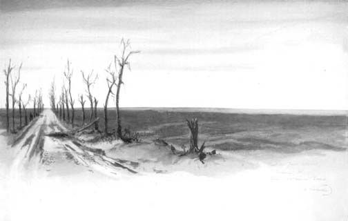 Point du Jour Redoubt.  Sketch by Fred A Farrell, shows a shell-swept. waste north-east of Arras.  http://net.lib.byu.edu/estu/wwi/memoir/docs/51st/images/plate17.jpg