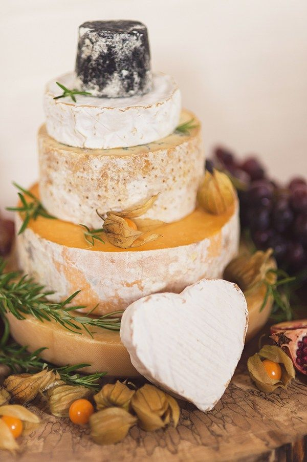 Country Folksy Pre-Raphaelite Wedding Cheese Tower Cake…