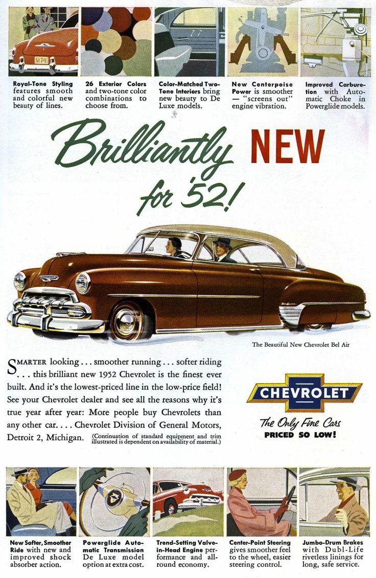 1952 chevy bel air us classic car brochures pics ads pinterest bel air chevy and doors. Black Bedroom Furniture Sets. Home Design Ideas