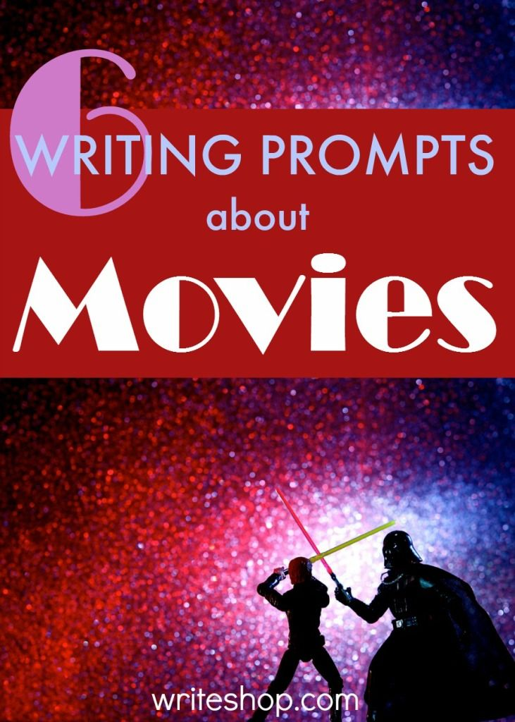 These writing prompts about movies let students write a review, create a film character, plan the perfect weapon, and compare a movie to its book.