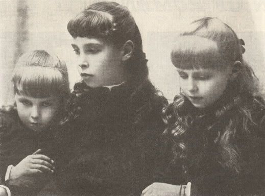 Alexandra, Victoria Melita, and Marie of Edinburgh.
