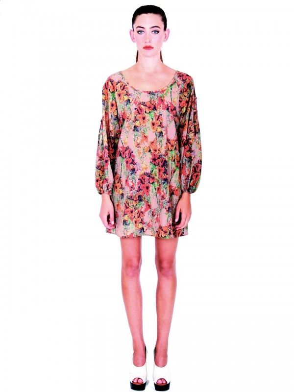Tall Poppies Dress by Pink Stitch.  I love the watercolor feel of this print and its relaxed shape would make it perfect for those hot & sticky days. You could also belt it for a more flattering shapely look.  A great Kaftan alternative!