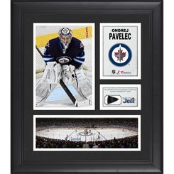 Ondrej Pavelec Winnipeg Jets Framed 15'' x 17'' Collage with Piece of Game-Used Puck