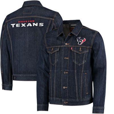Houston Texans Levi's Sports Denim Trucker Jacket - Blue