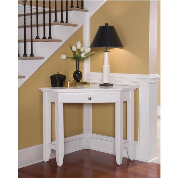 Corner desk beside stairway  (desk would be useful for lamp light & simple decor)