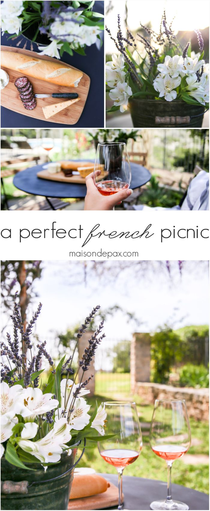Simple rustic elegance! How to style and create a perfect French picnic | maisondepax.com