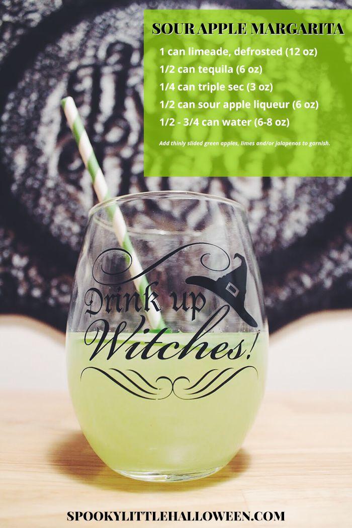 Spooky Little Cocktail: Sour Apple Margarita - Spooky Little Halloween