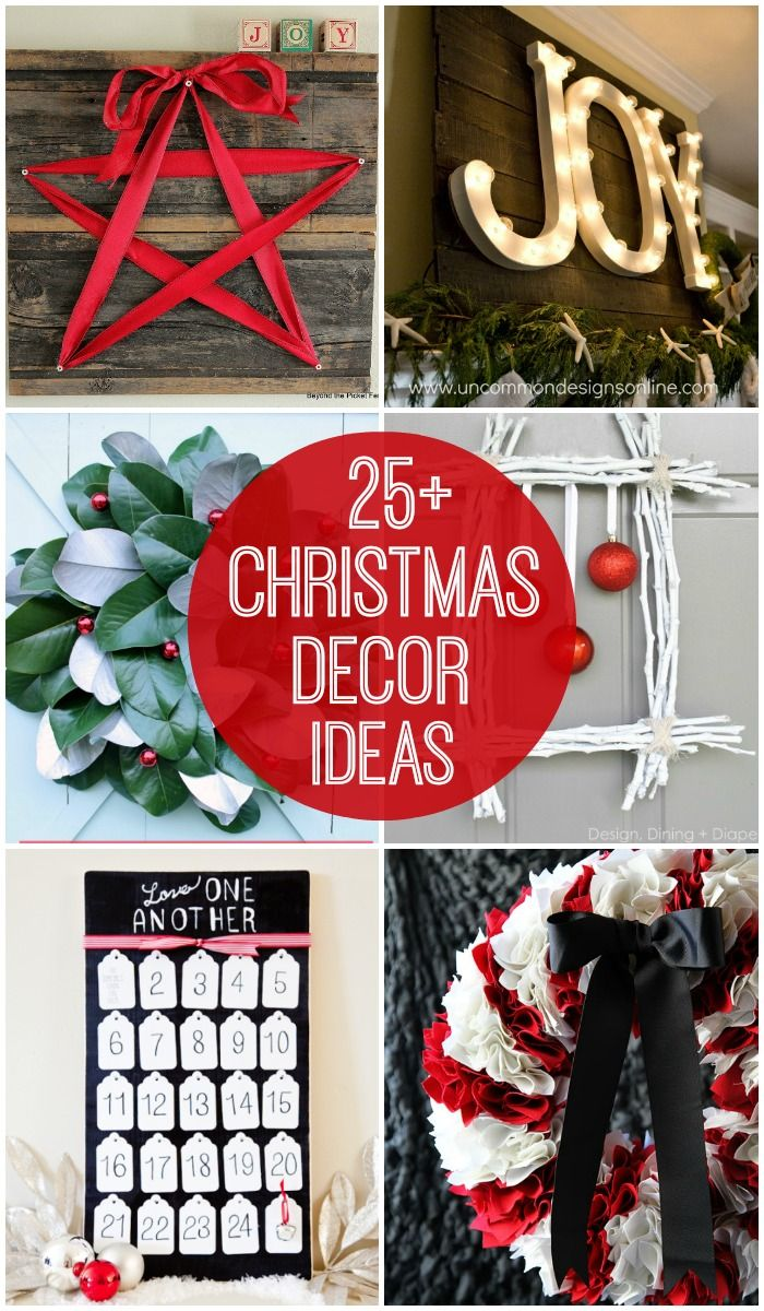 25+ Christmas Decor Ideas - tons of very cute and creative decor ideas for Christmas! { lilluna.com }