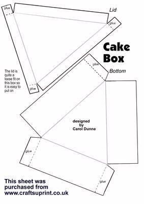 Cake Box Template cakepins.com                                                                                                                                                                                 More