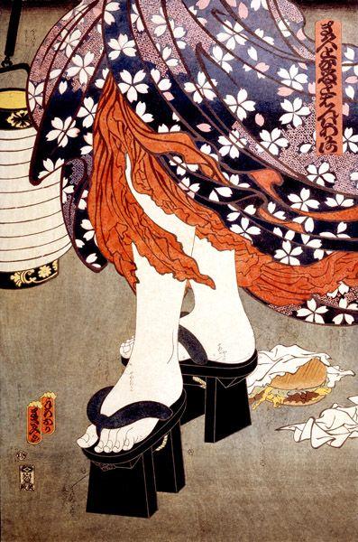 Teraoka Masami - McDonald's Hamburgers Invading Japan/Chochin-me. (1982) 寺岡政美 「マクドナルドハンバーガー東京を侵略す」Japan