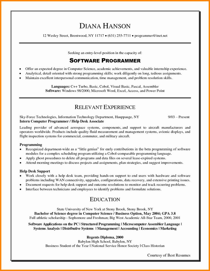 25 free entry level resume template in 2020