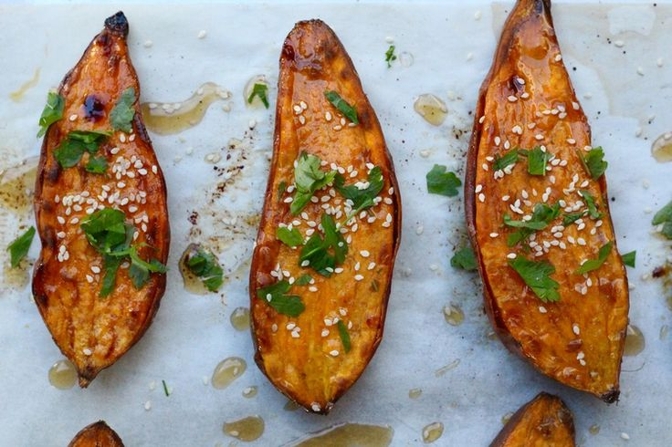 Sesame and Soy Roasted Sweet Potatoes — Healthy Always