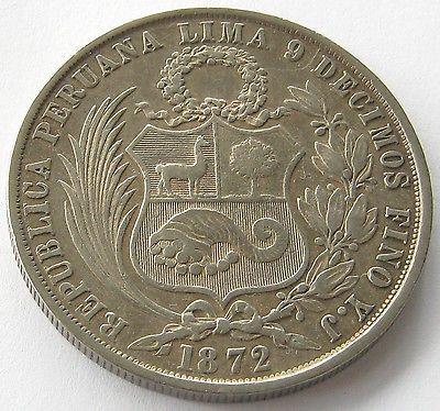 Перу, большой Серебряная монета 1 соль 1872 YJ, топ, высокого класса! in Монеты и банкноты, Монеты: страны мира, Южная Америка | eBay