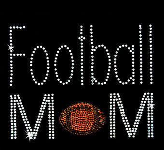 Football Mom Rhinestone TShirt Design Bling rhinestone tshirts bling football…