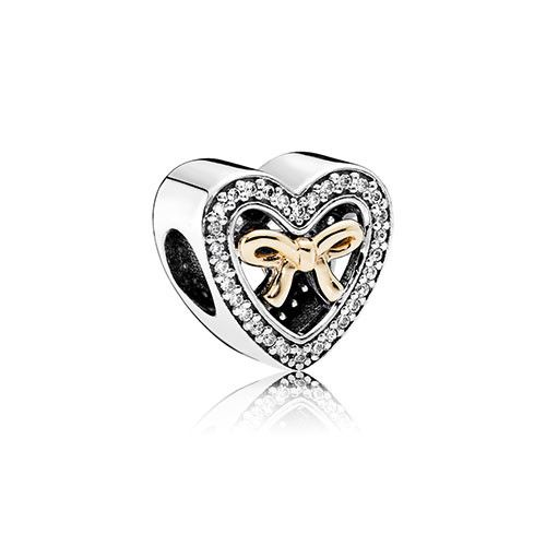 Pandora Silver & Gold Bound By Love Charm
