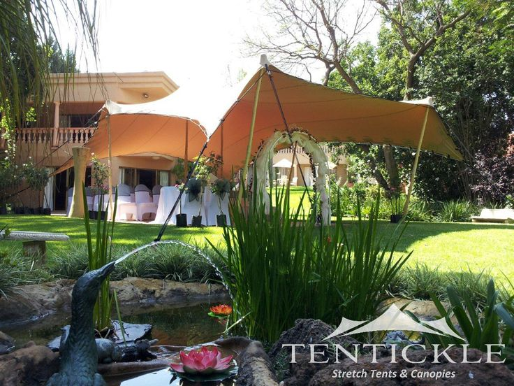 Beige ceremony tent