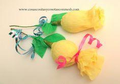 Rosas de papel con chocolates para el día de la Madre paso a paso :DIY