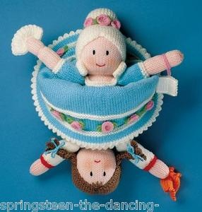Knitting Pattern Cinderella Topsy Turvy Doll Jean Greenhowe