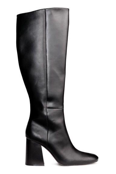 Cizme până la genunchi - Negru - | H&M RO