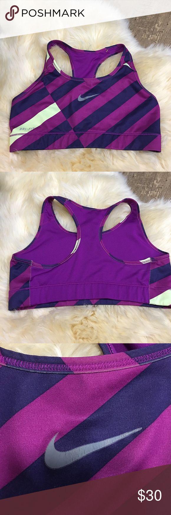 Purple Striped Sports Bra Purple Stripped sports bra. Solid purple in the back Nike Intimates & Sleepwear Bras