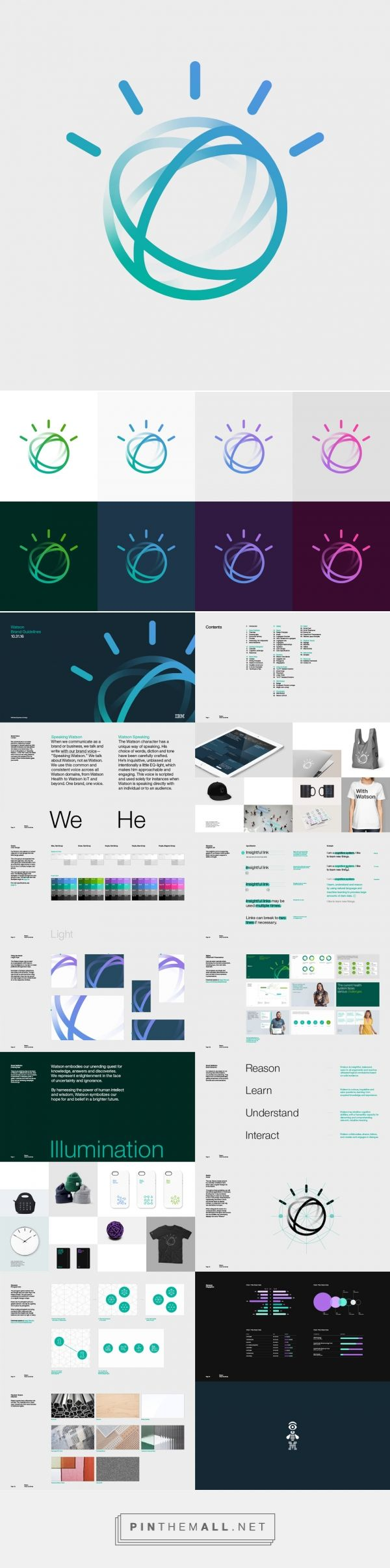 Brand New: New Logo and Identity for IBM Watson done In-house (with others) - created via https://pinthemall.net