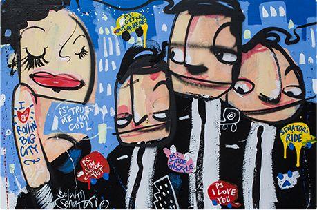 Kunstwerk van Selwyn Senatori bij de unieke Picanto #SenatoribyKia
